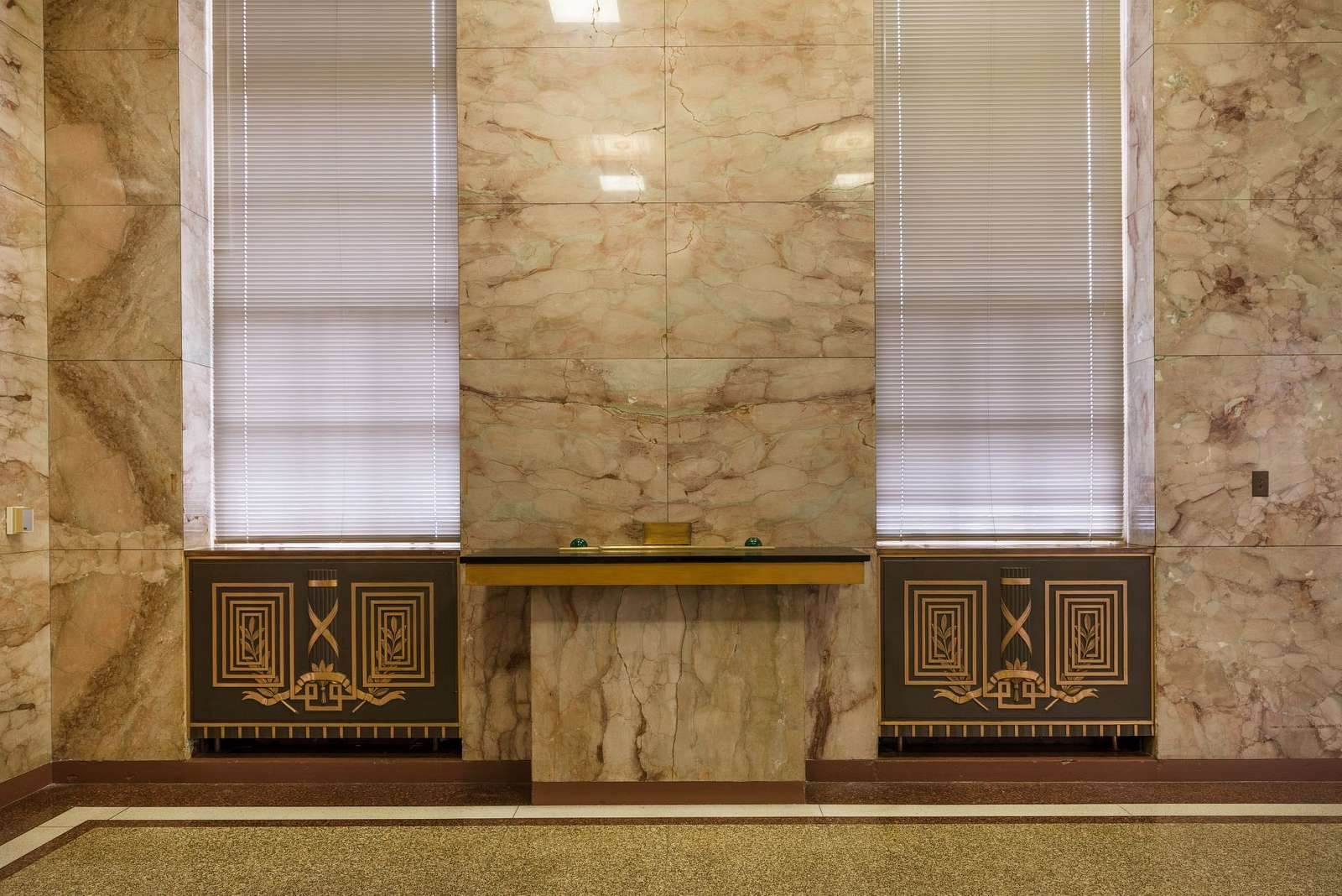 Architectural details of Lobby at the Federal Building and U.S. Court House, Peoria, Illinois