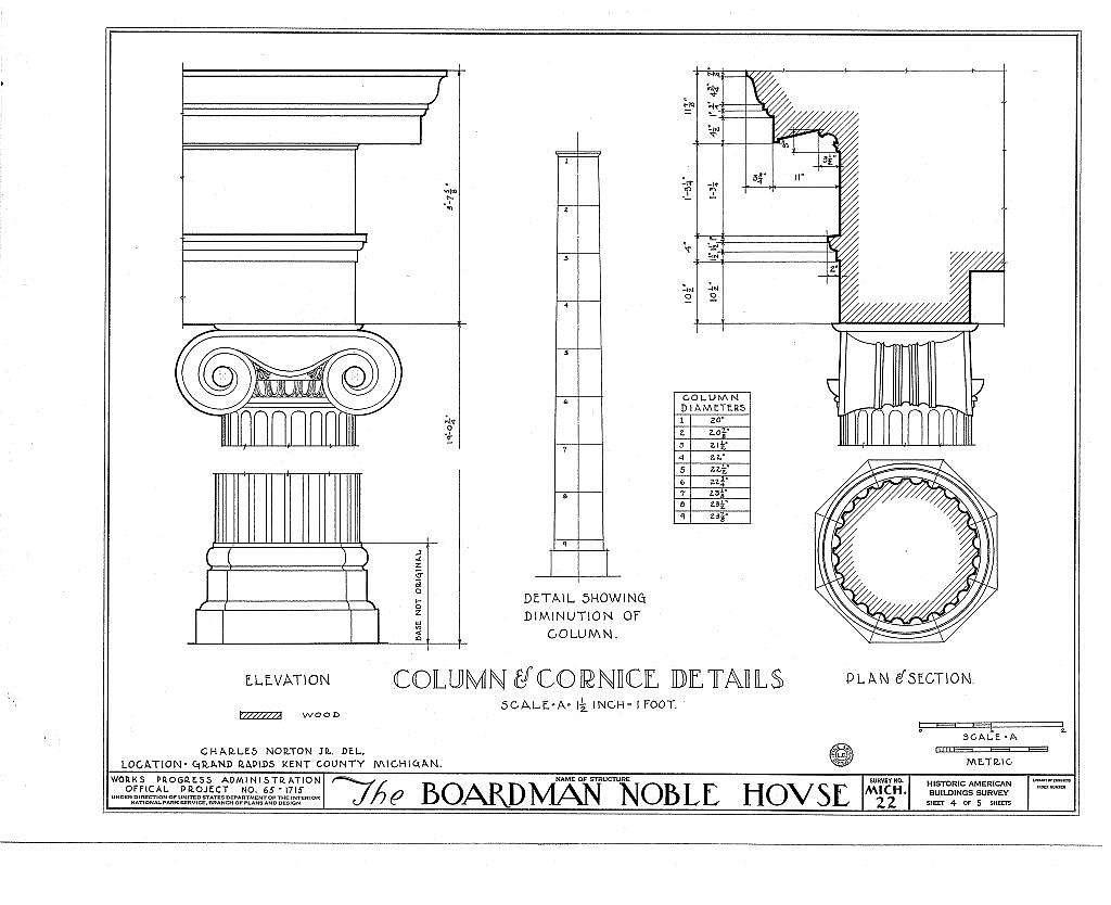 Boardman Noble House, 671 Front Avenue Northwest, Grand Rapids, Kent County, MI