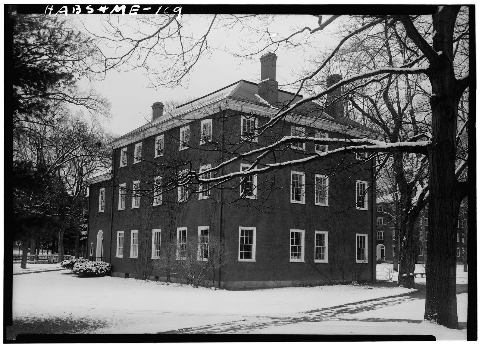 Bowdoin College, Massachusetts Hall, Bath Street, Brunswick, Cumberland County, ME
