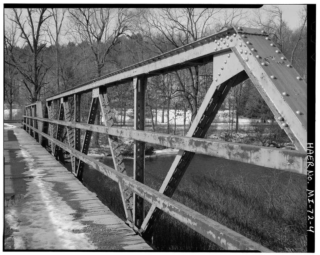 Burroughs Street Bridge, Spanning Flat River, Lowell, Kent County, MI