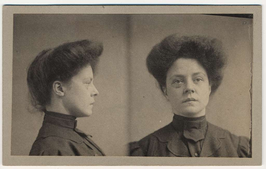 [Catherine O'Neill, mug shot, facing front and to her left]