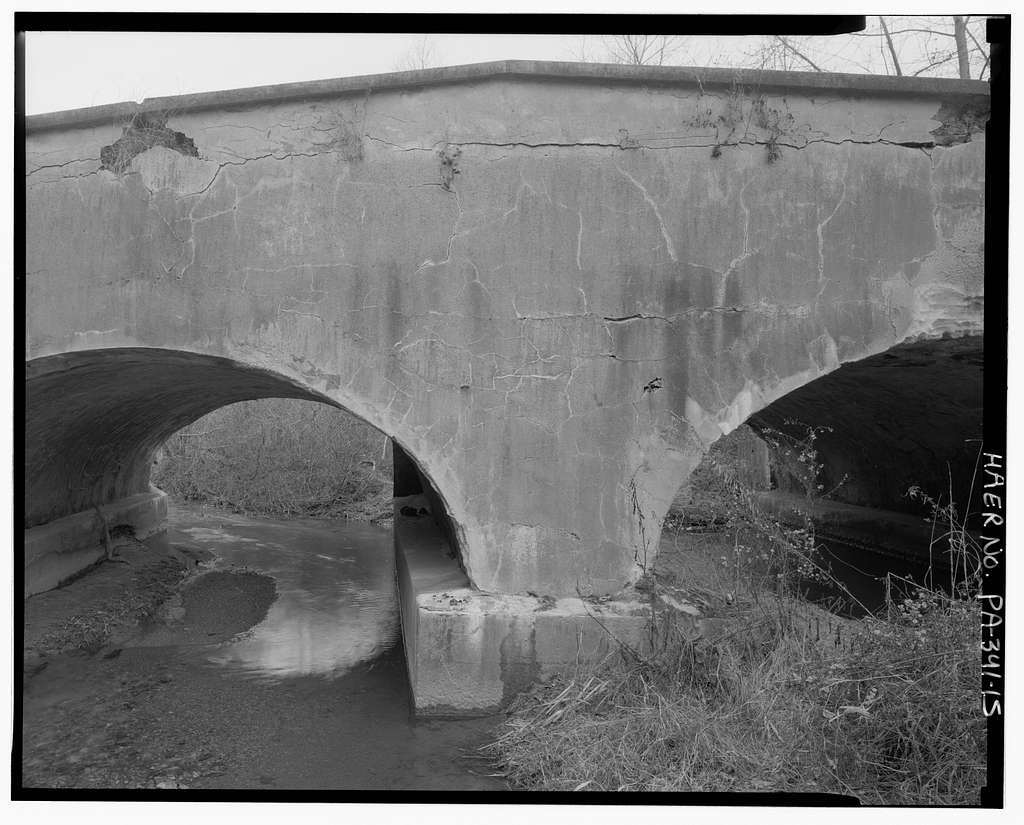 Dubbs Bridge, Spinnerstown Road (State Route 2031) spanning Hosensack Creek, Dillingerville, Lehigh County, PA