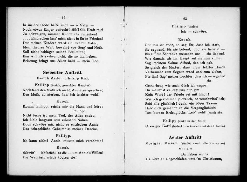 Enoch Arden. Libretto. German