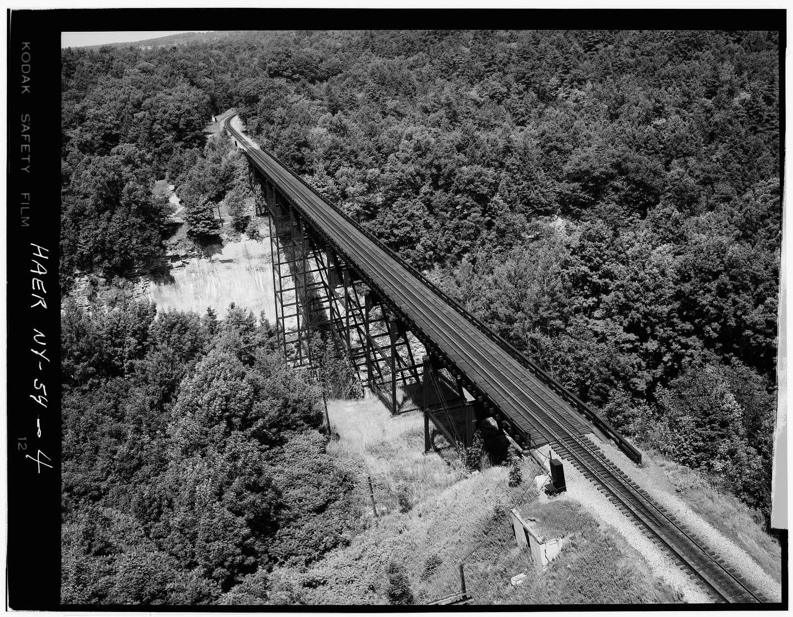 Erie Railway, Buffalo Division, Bridge 361.66, Genesee River, State Route 436, Portageville, Wyoming County, NY