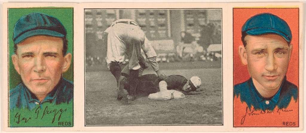 [George Suggs/John R. McLean, Cincinnati Reds, baseball card portrait]