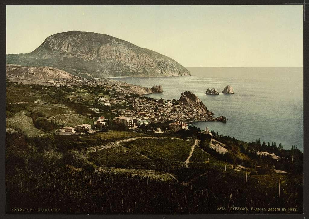 [Gursuff, (i.e., Gurzuf), from the Jalta, (i.e., Yalta) Road, the Crimea, Russia, (i.e., Ukraine)]