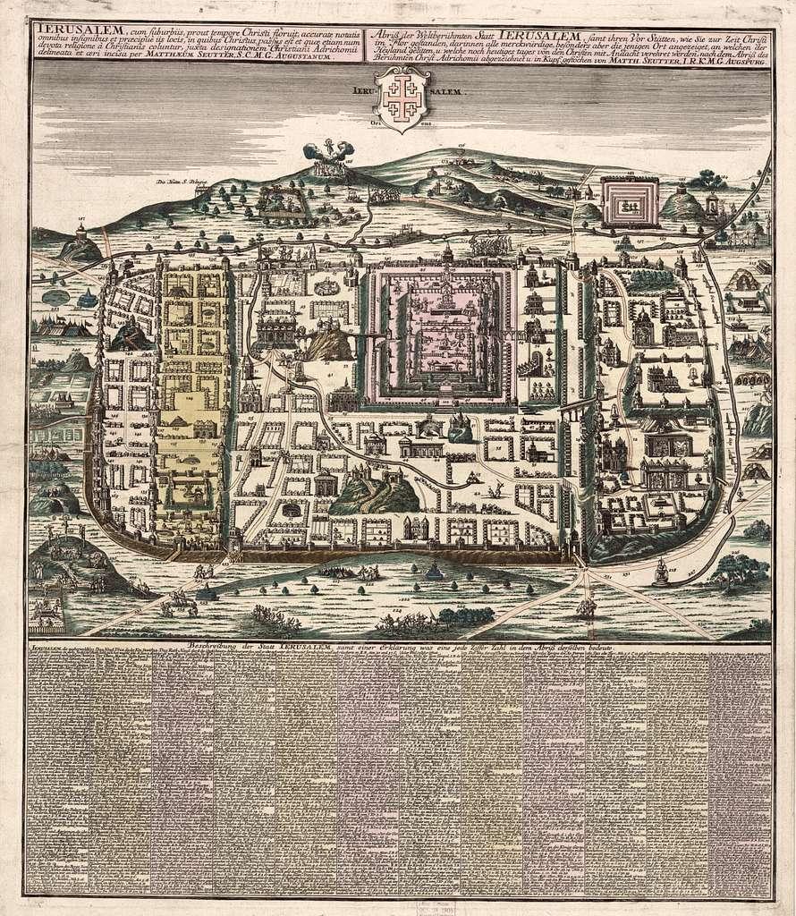 Ierusalem, cum suburbiis, prout tempore Christi floruit, accurate notatis omnibus insignibus et praecipuè iis locis... /