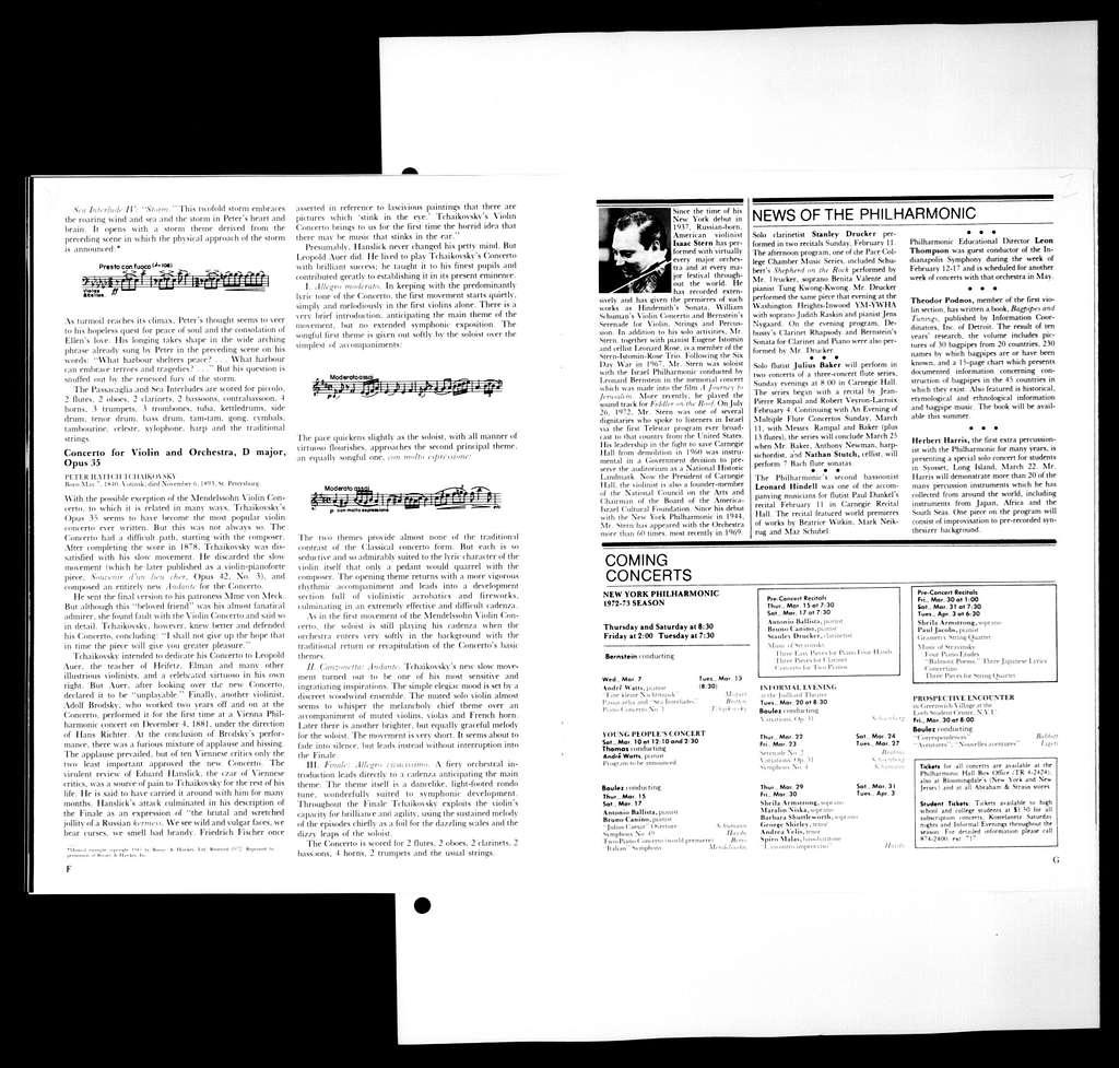 Leonard Bernstein Scrapbook: Vol. 78. March 1973-June 24, 1973