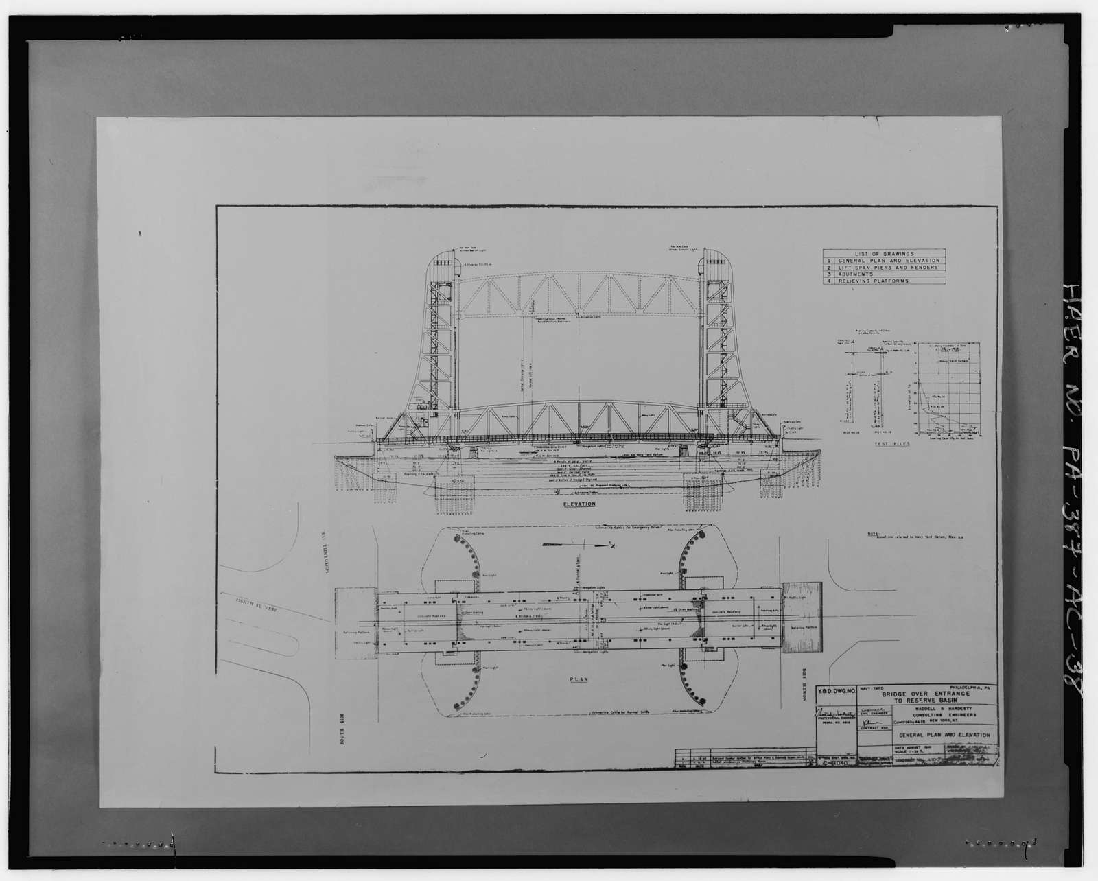 Naval Base Philadelphia-Philadelphia Naval Shipyard, Lift Bridge, Mouth of Reserve Basin, League Island, Philadelphia, Philadelphia County, PA
