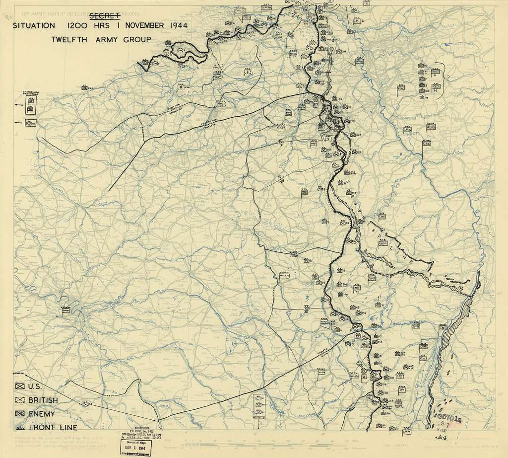 [November 1, 1944], HQ Twelfth Army Group situation map.