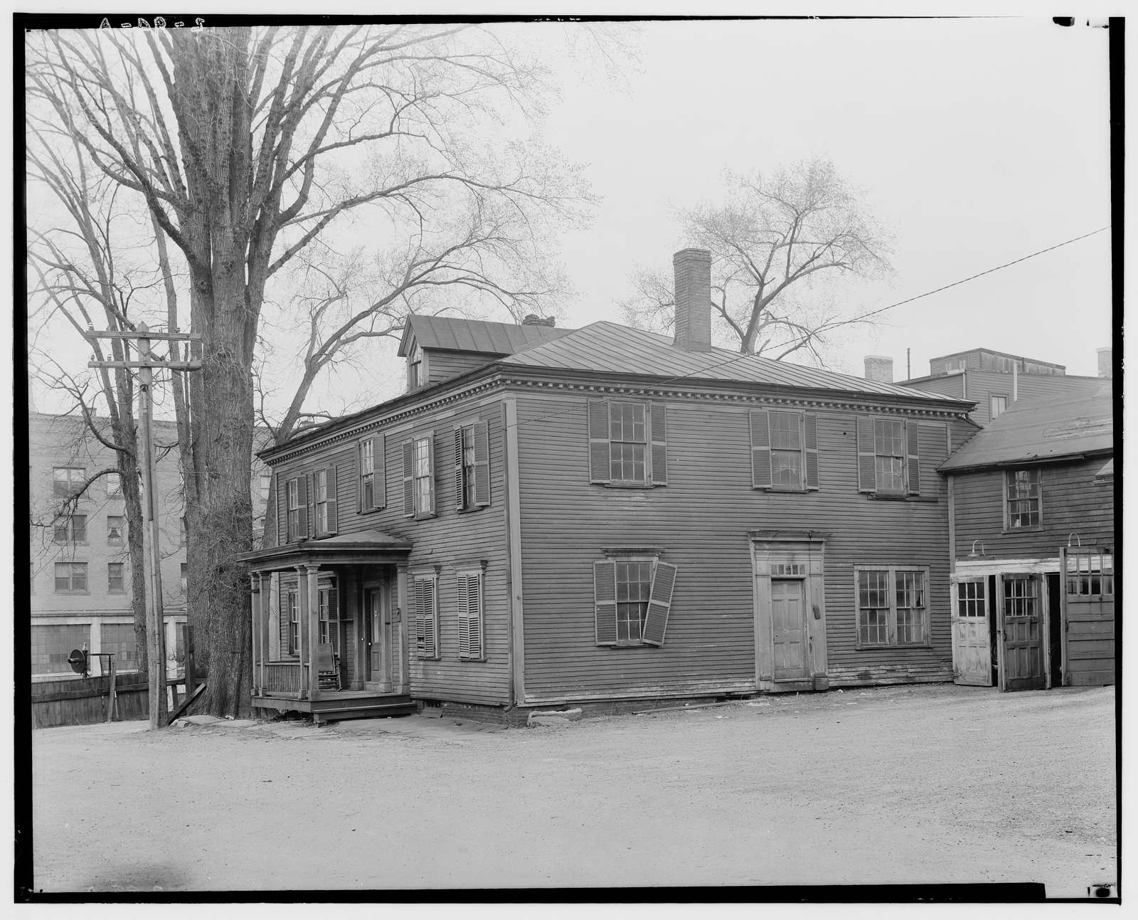 Reverend Roger Newton House, Newton Place (moved from original location), Greenfield, Franklin County, MA