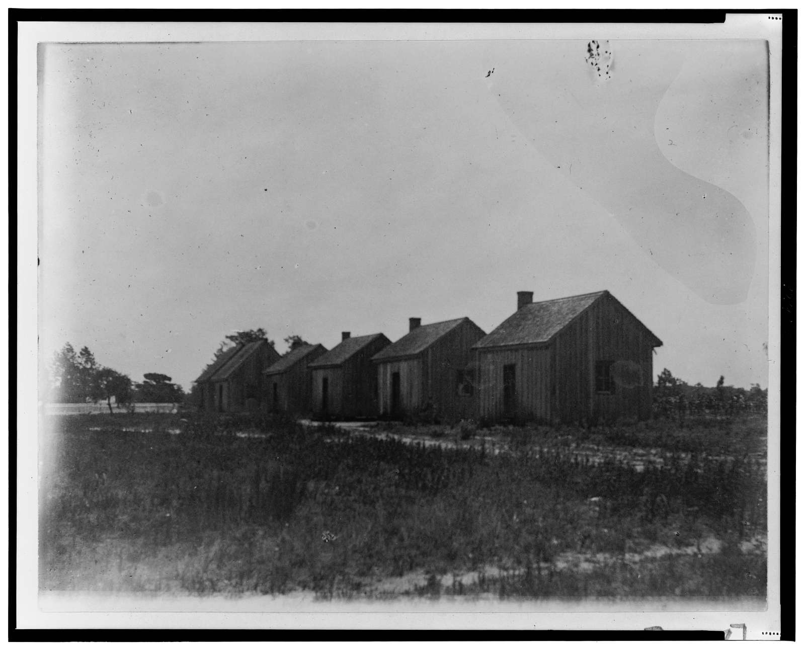 [Row of farm buildings in Georgia]