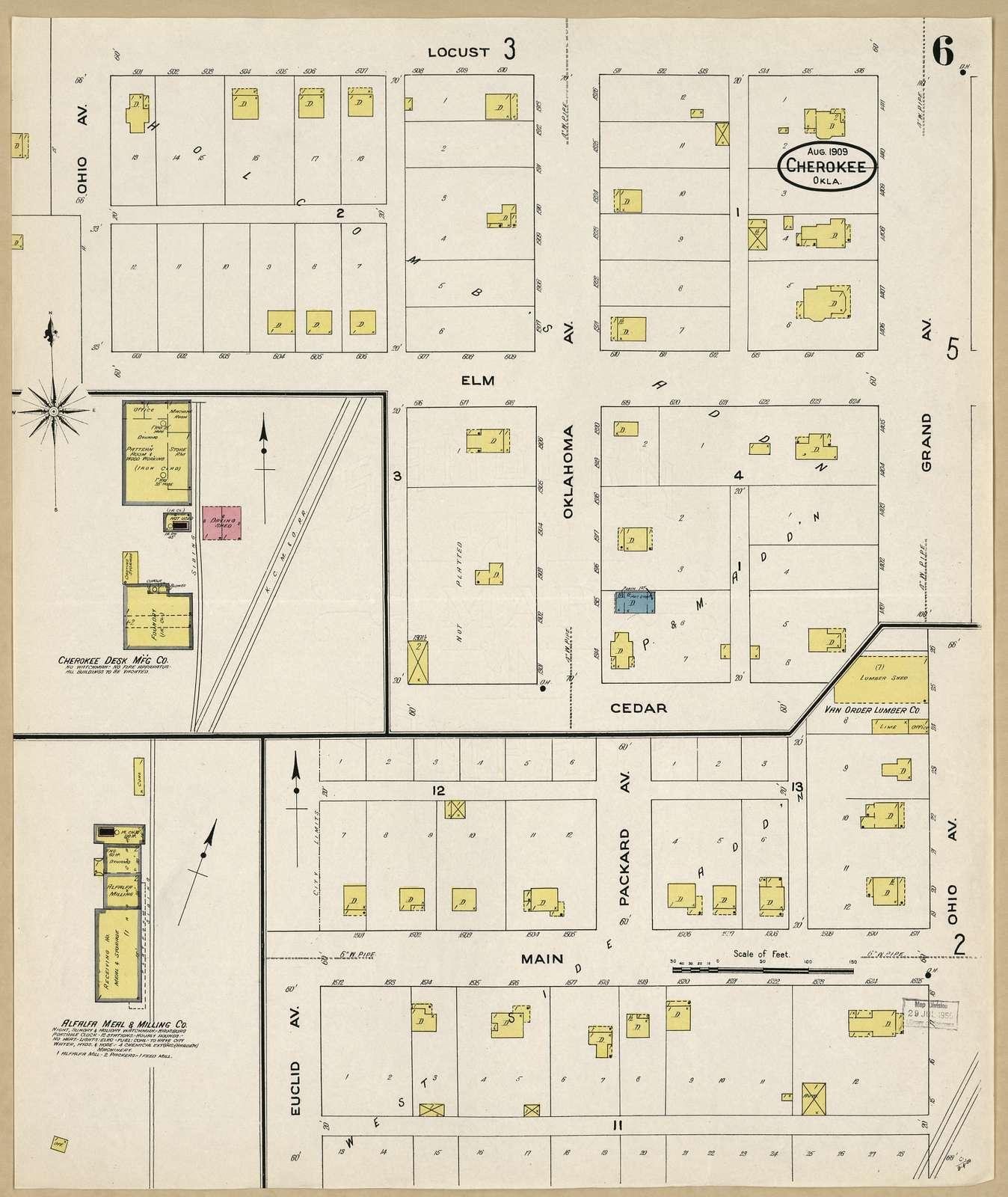 Sanborn Fire Insurance Map from Cherokee, Alfalfa County, Oklahoma.