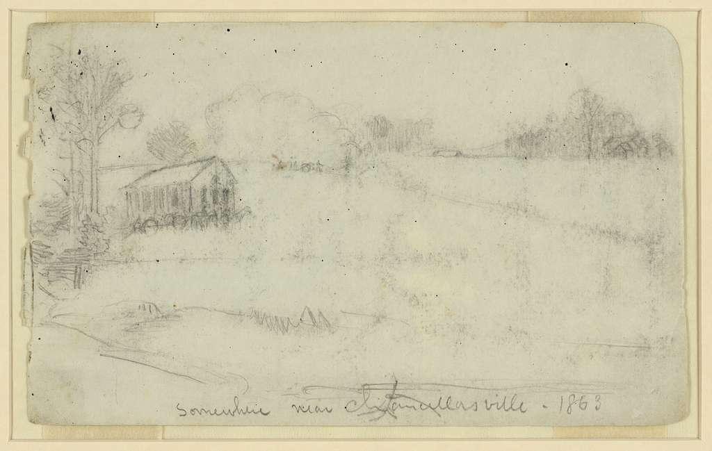 Somewhere near Chancellorsville, 1863