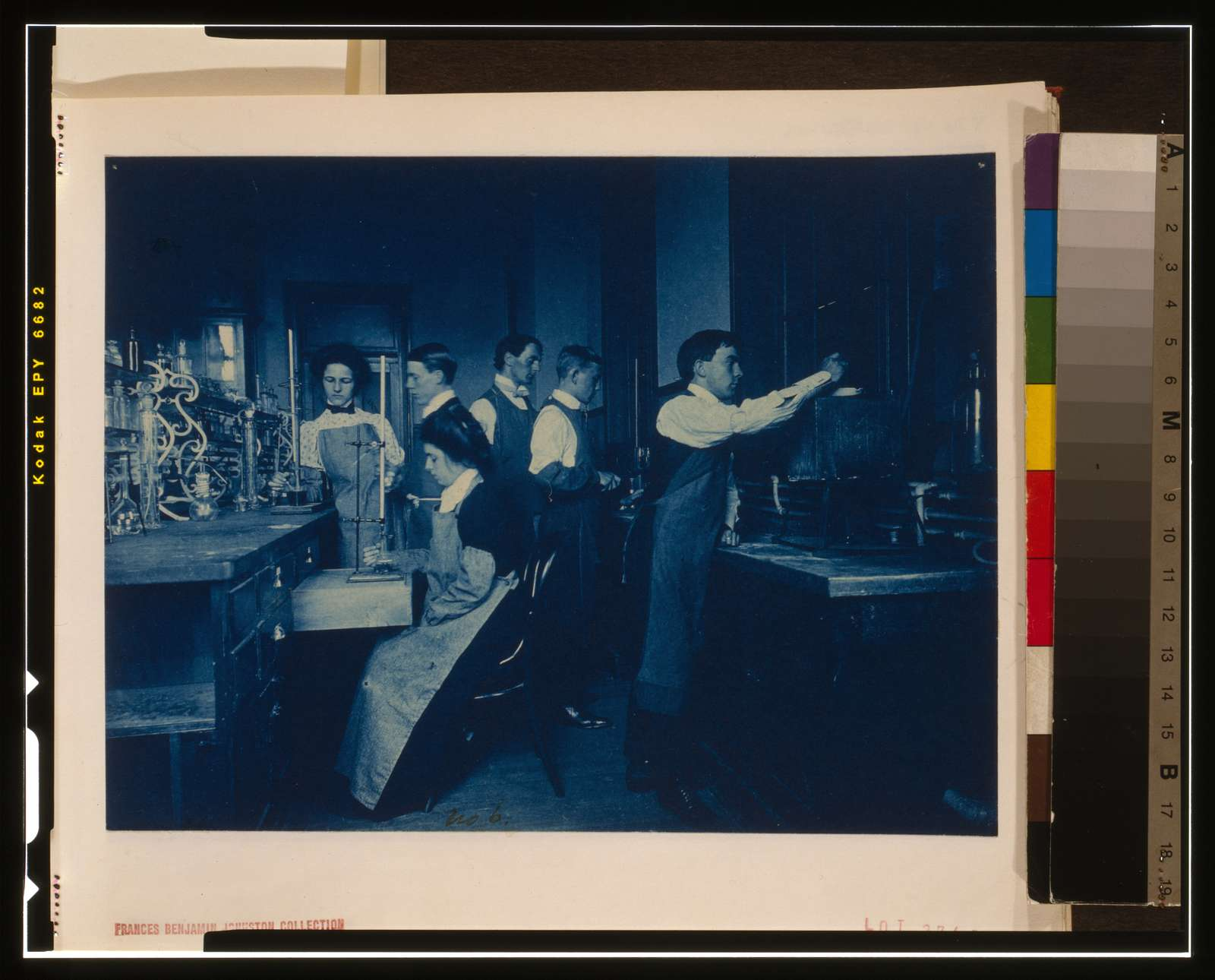 [Students conducting experiments in laboratory, Western High School, Washington, D.C.]