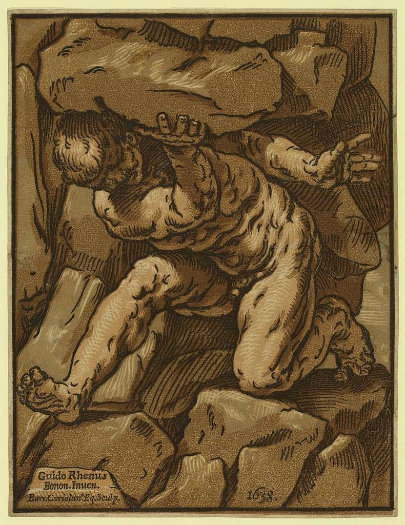 Study of a giant / Guido Rhenus, bonon. inuen., Bart. Coriolano, eq., sculp.