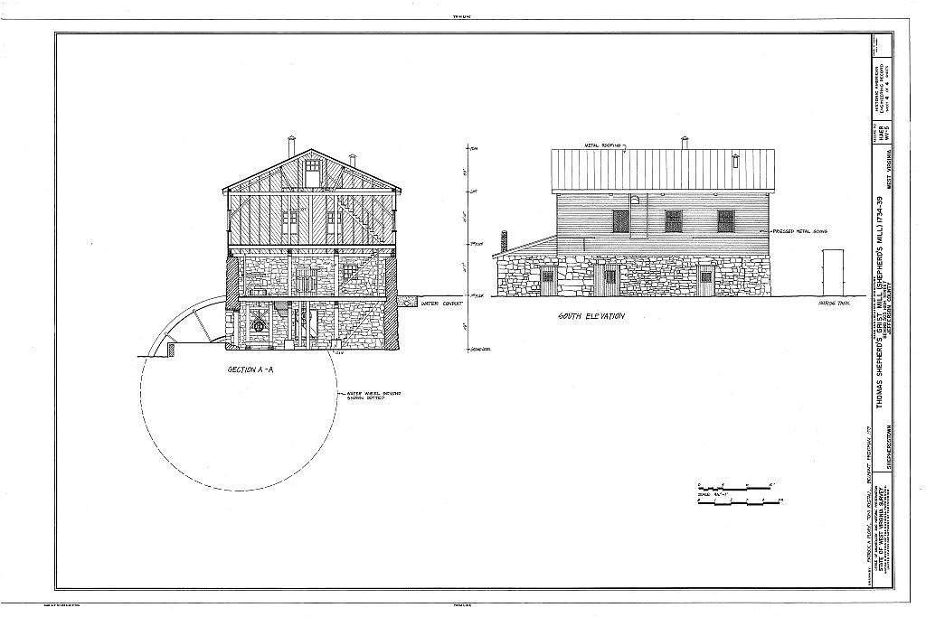 Thomas Shepherd's Grist Mill, High Street Vicinity, Shepherdstown, Jefferson County, WV