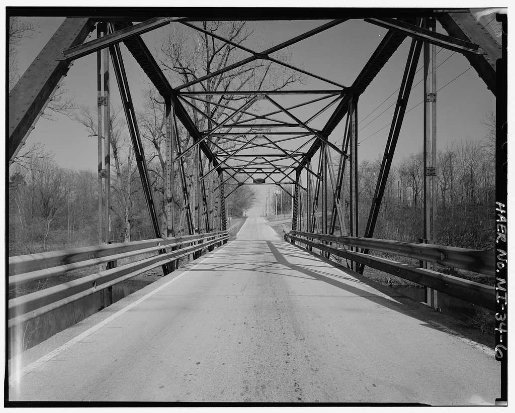 Trunk Line Bridge, Spanning Pine River at Griswold Road, Kimball, St. Clair County, MI