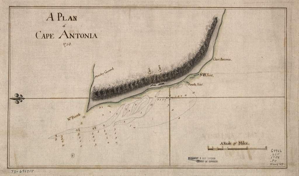 A Plan of Cape Antonia.