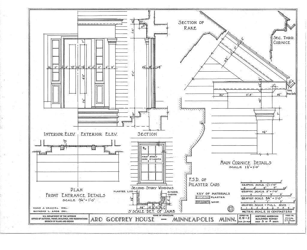 Ard Godfrey House, Ortman Street, Minneapolis, Hennepin County, MN