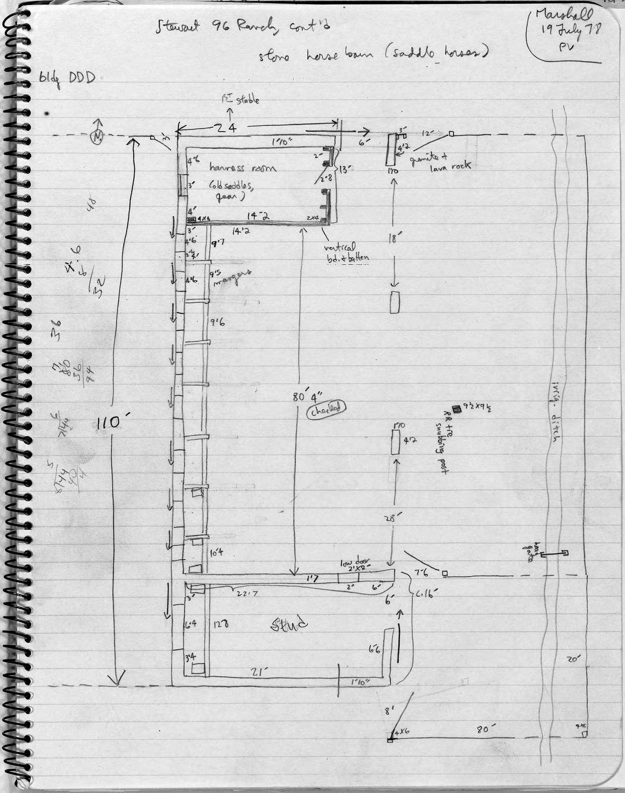 Barn Plan, Ninety-Six Ranch