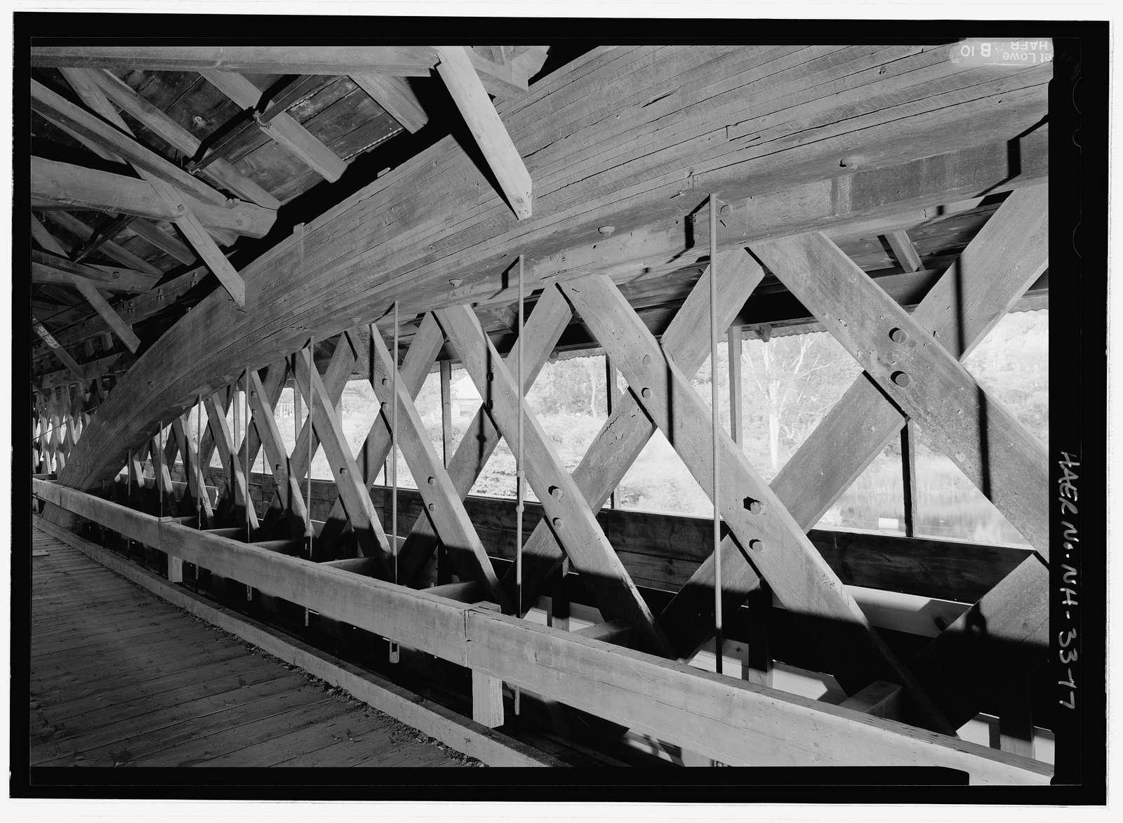 Bath-Haverhill Bridge, Spanning Ammonoosuc River, bypassed section of Ammanoosuc Street (SR 135), Woodsville, Grafton County, NH