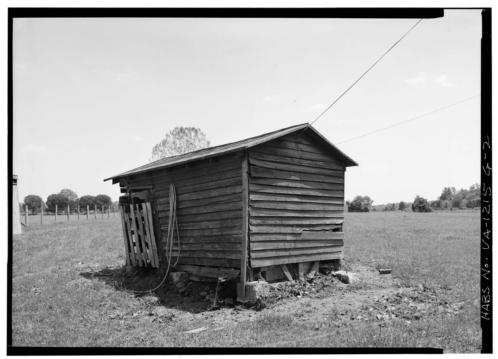 Bracketts Farm, Storage Shed, Routes 638 & 640 vicinity, Trevilians, Louisa County, VA