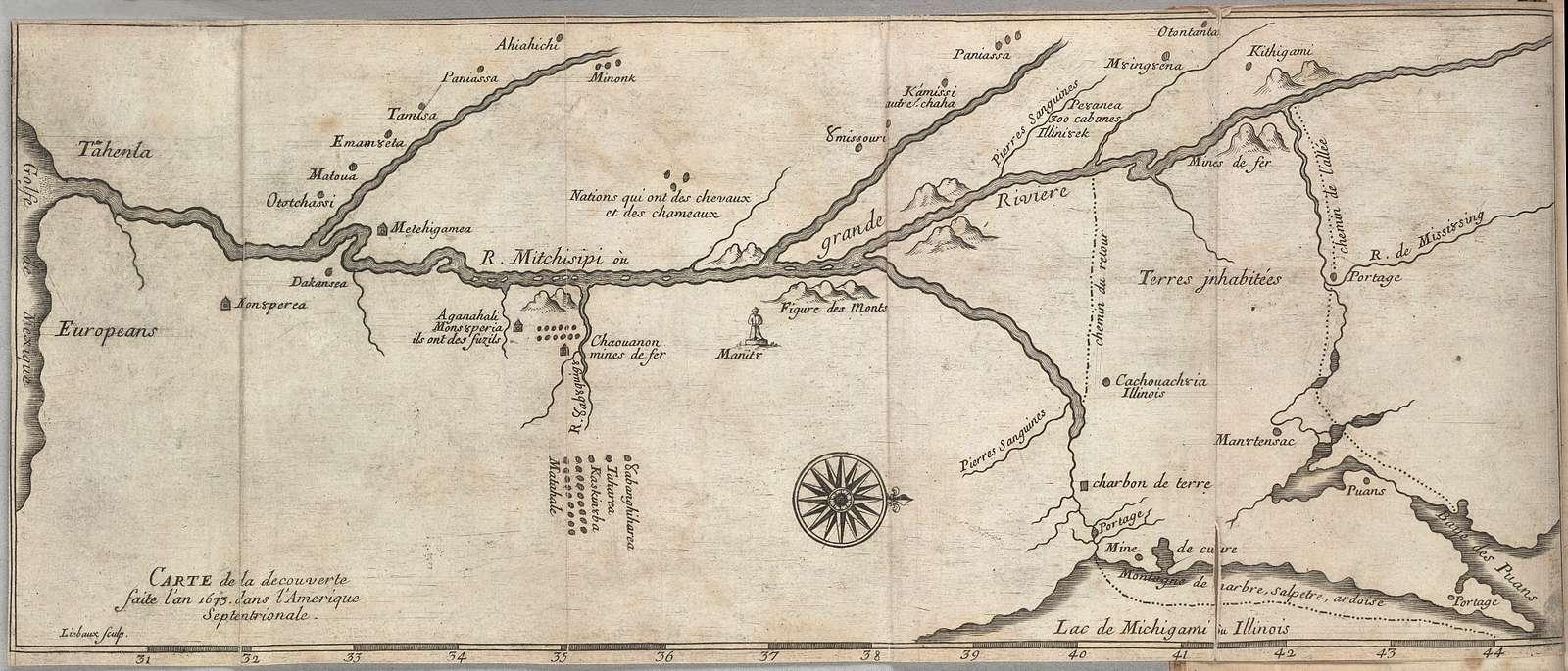 Carte de la decouverte faite l'an 1673 dans l'Amerique Septentrionale /