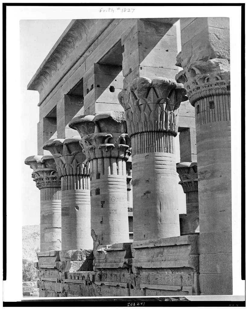 [Columns of Kiosk of the Emperor Trajan (Pharaoh's Bed), Philae, Egypt]