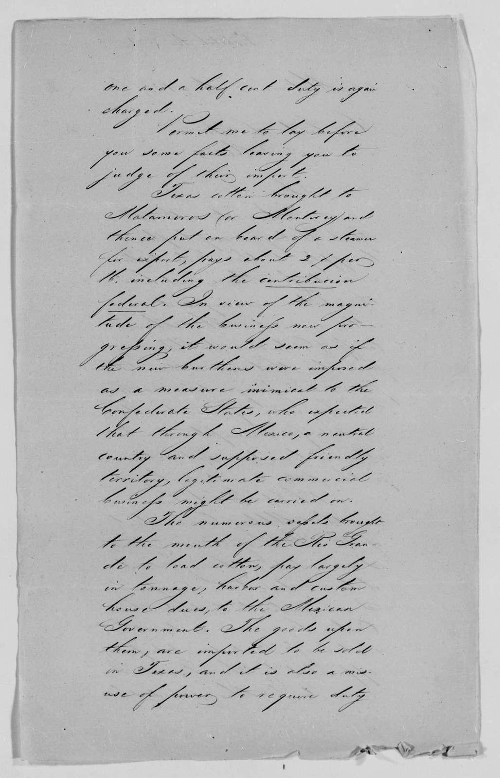 Confederate States of America records: Microfilm Reel 8