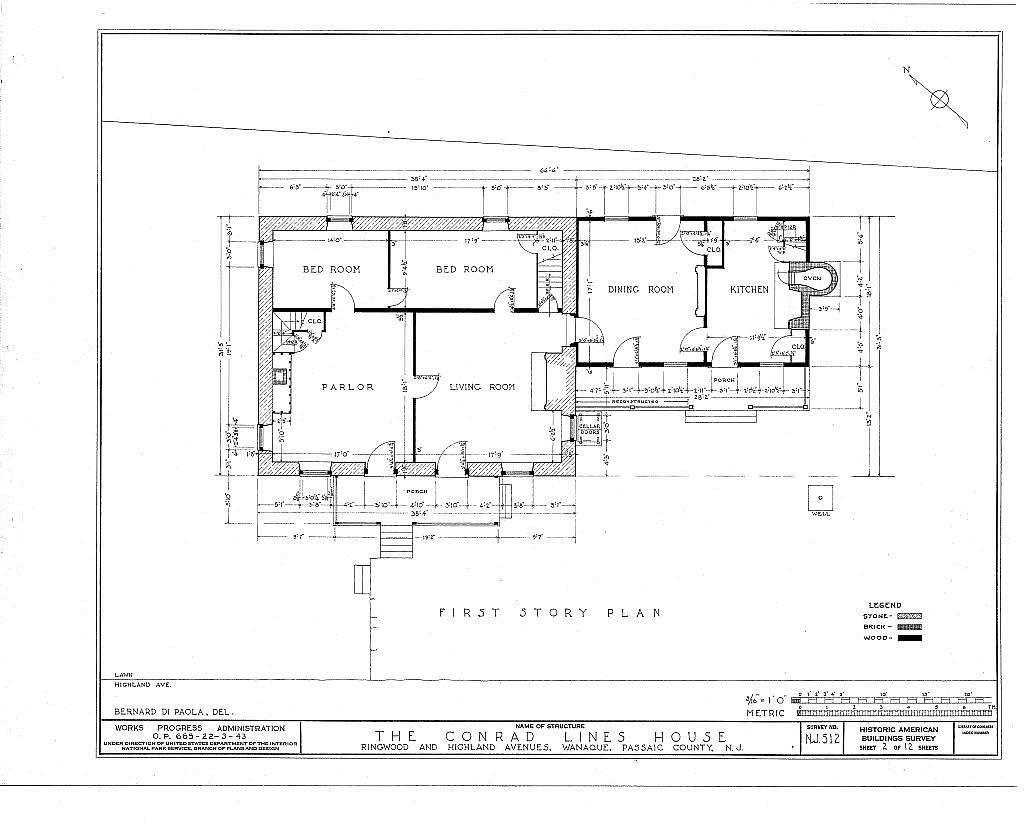 Conrad Lines House, Ringwood & Highland Avenues, Wanaque, Passaic County, NJ