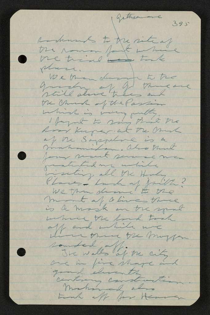 George S. Patton Papers: Diaries, 1910-1945; Original; 1943, Nov. 13-1944, May 31