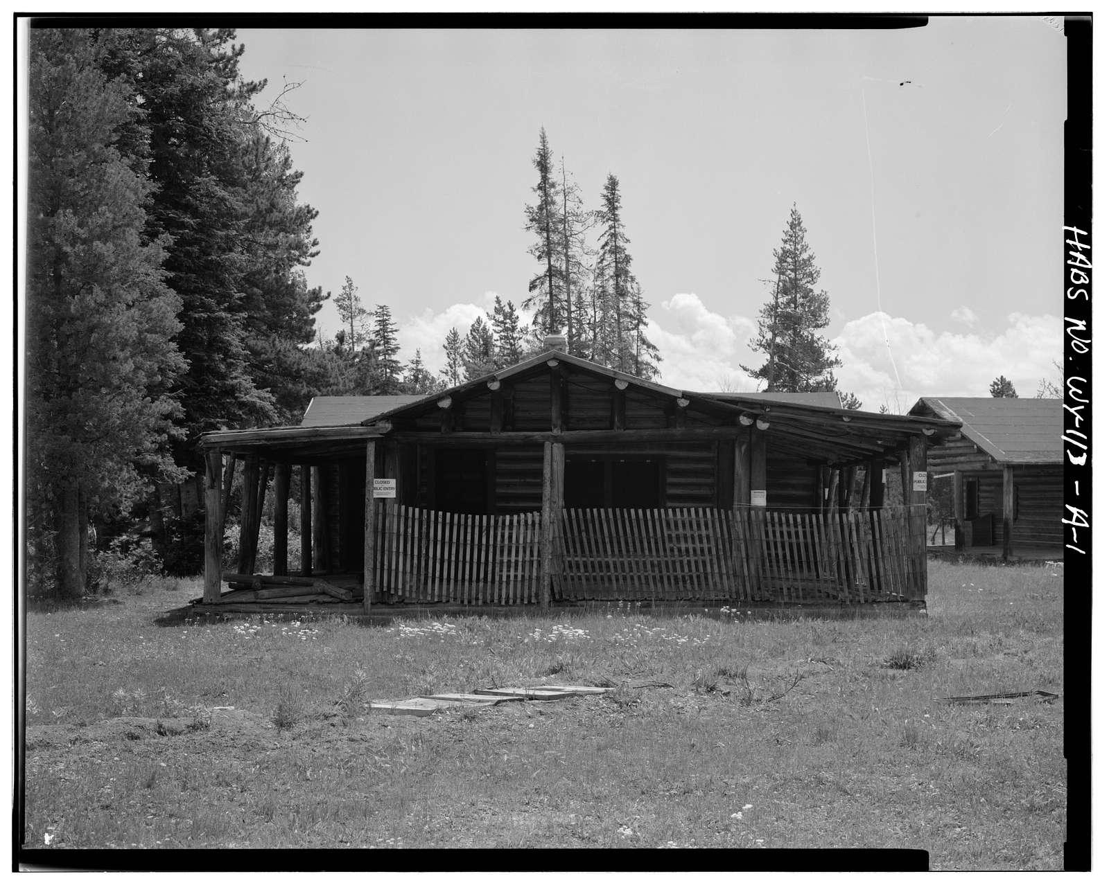 Geraldine Lucas Homestead, Geraldine Lucas Cabin, West bank Cottonwood Creek, 2.5 miles downstream from Jenny Lake, Moose, Teton County, WY