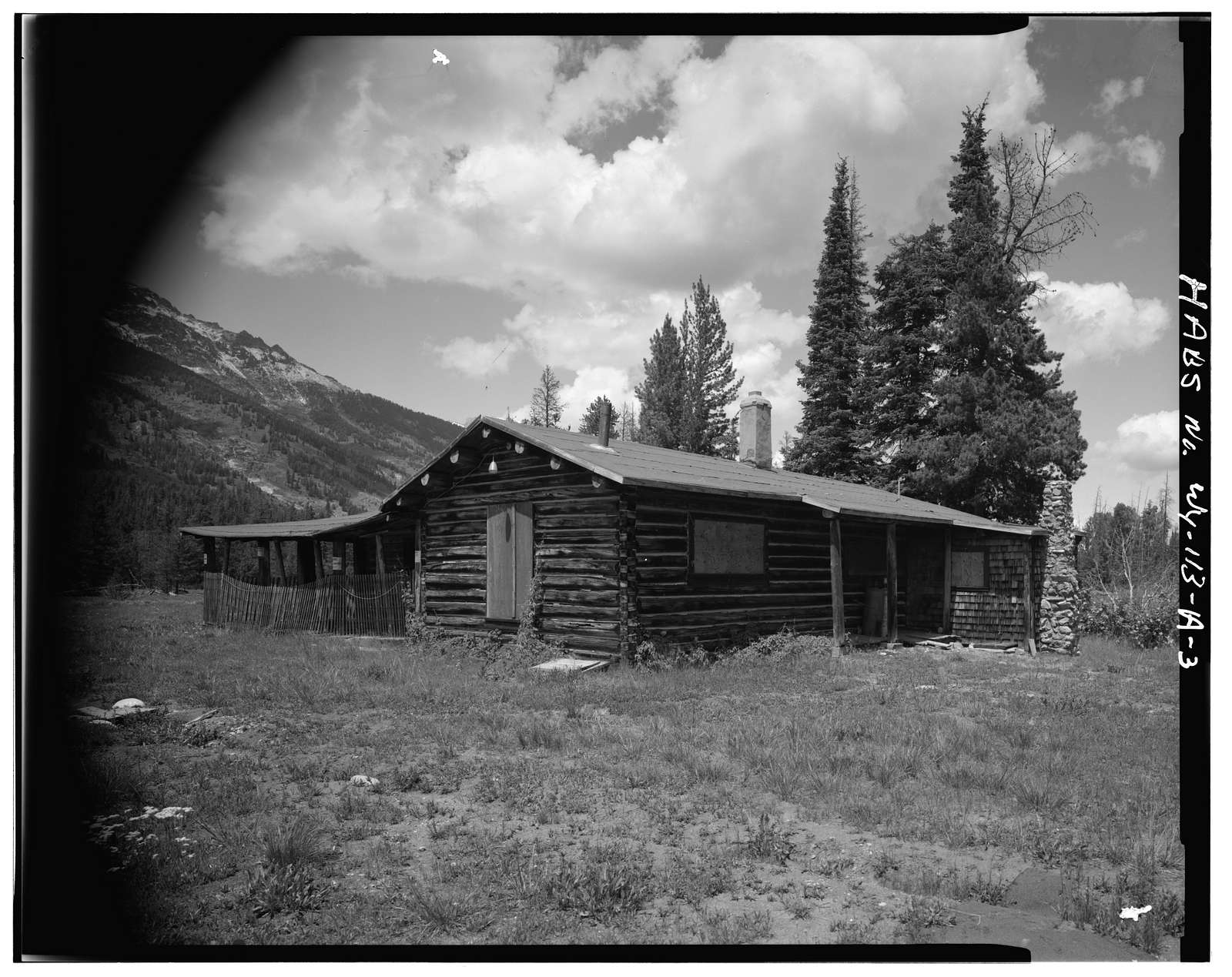 Geraldine Lucas Homestead, Geraldine Lucas Cabin, West bank Cottonwood Creek, 2.5 miles downstream from Jenny Lake, Moose, Teton County, WY