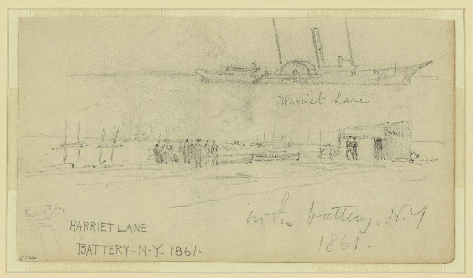 Harriet Lane [and] on the battery, N.Y., 1861