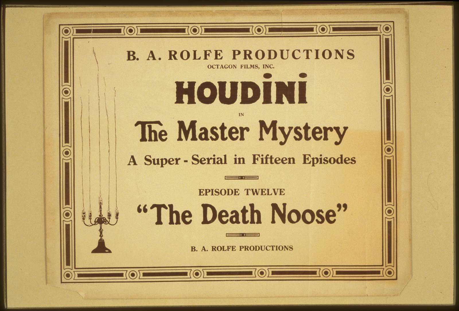 Houdini in The master mystery a super-serial in fifteen episodes.