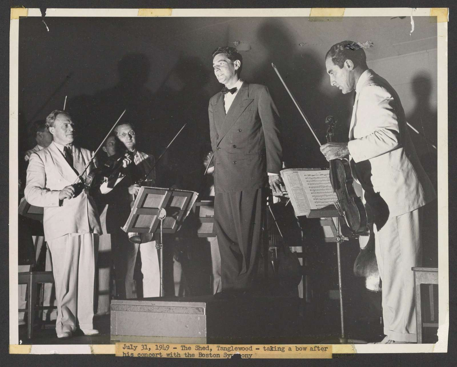 Leonard Bernstein after conducting the Boston Symphony at Tanglewood, July 31, 1949