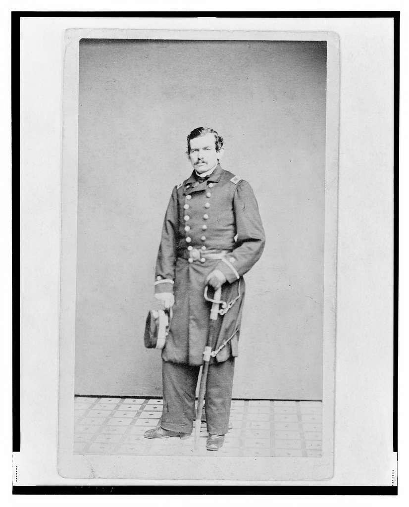 [Lieutenant Carl Wappenhaus, Union officer, full-length portrait, standing, facing front] / Julius Brill, New York.