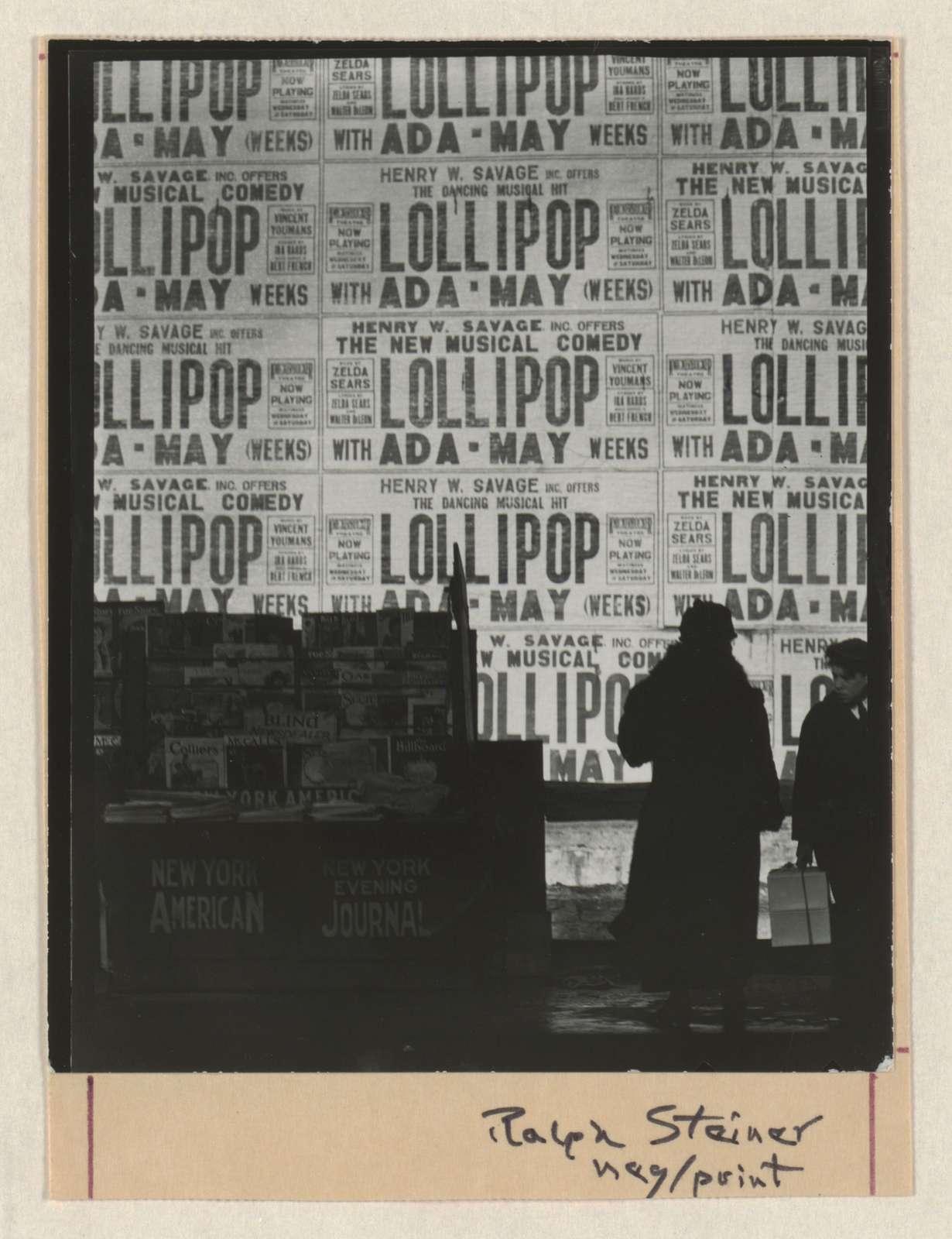 [Lollipop] / Ralph Steiner.