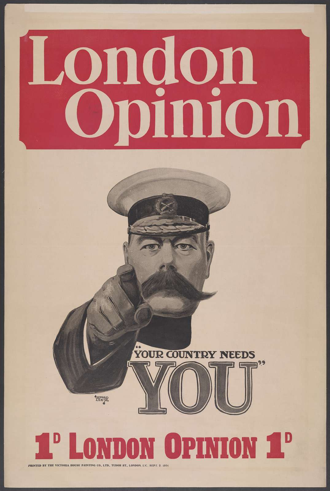 "London opinion ""Your country needs you"" / Alfred Leete."