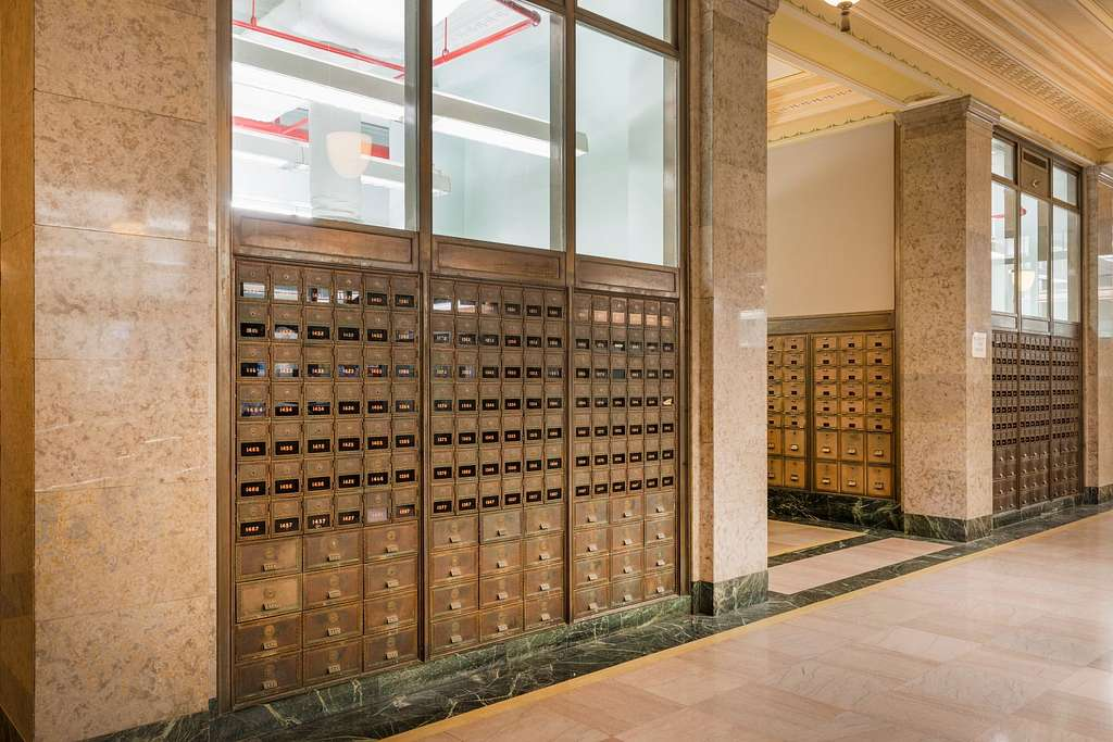 Mailboxes at the Texarkana U.S. Post Office and Federal Building