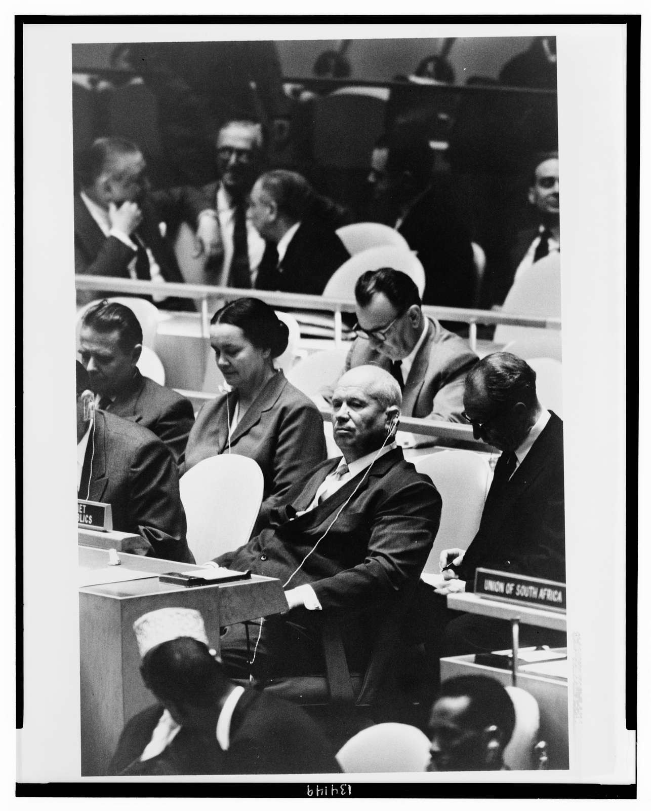 [Nikita Khrushchev, leader of the Union of Soviet Socialist Republics, at a meeting of the United Nations General Assembly, New York, New York] / [WKL].