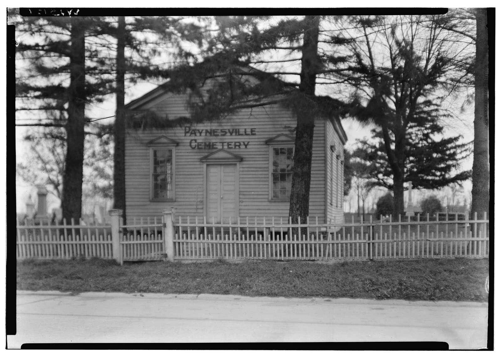Paynesville Cemetery Chapel, Rock Creek Vicinity, Oak Creek, Milwaukee County, WI