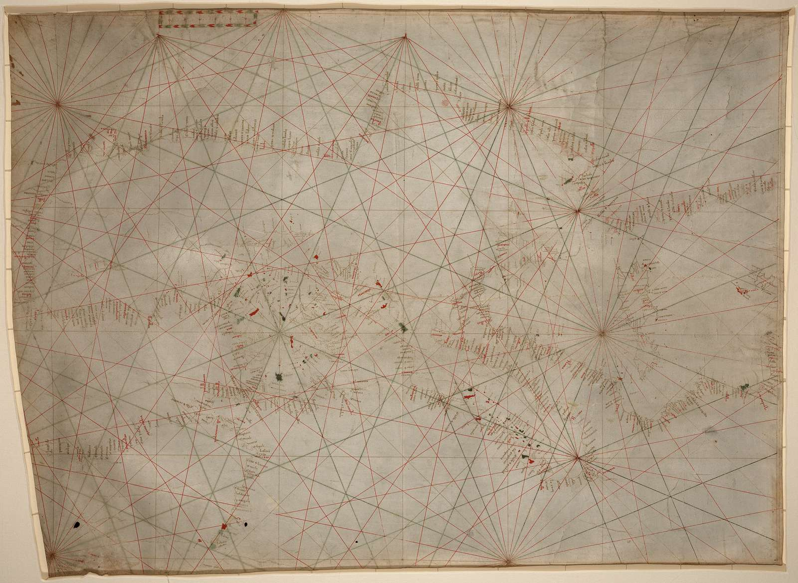 [Portolan chart of the Mediterranean Sea ca. 1320-1350 : manuscript chart of the Mediterranean and Black seas on vellum].