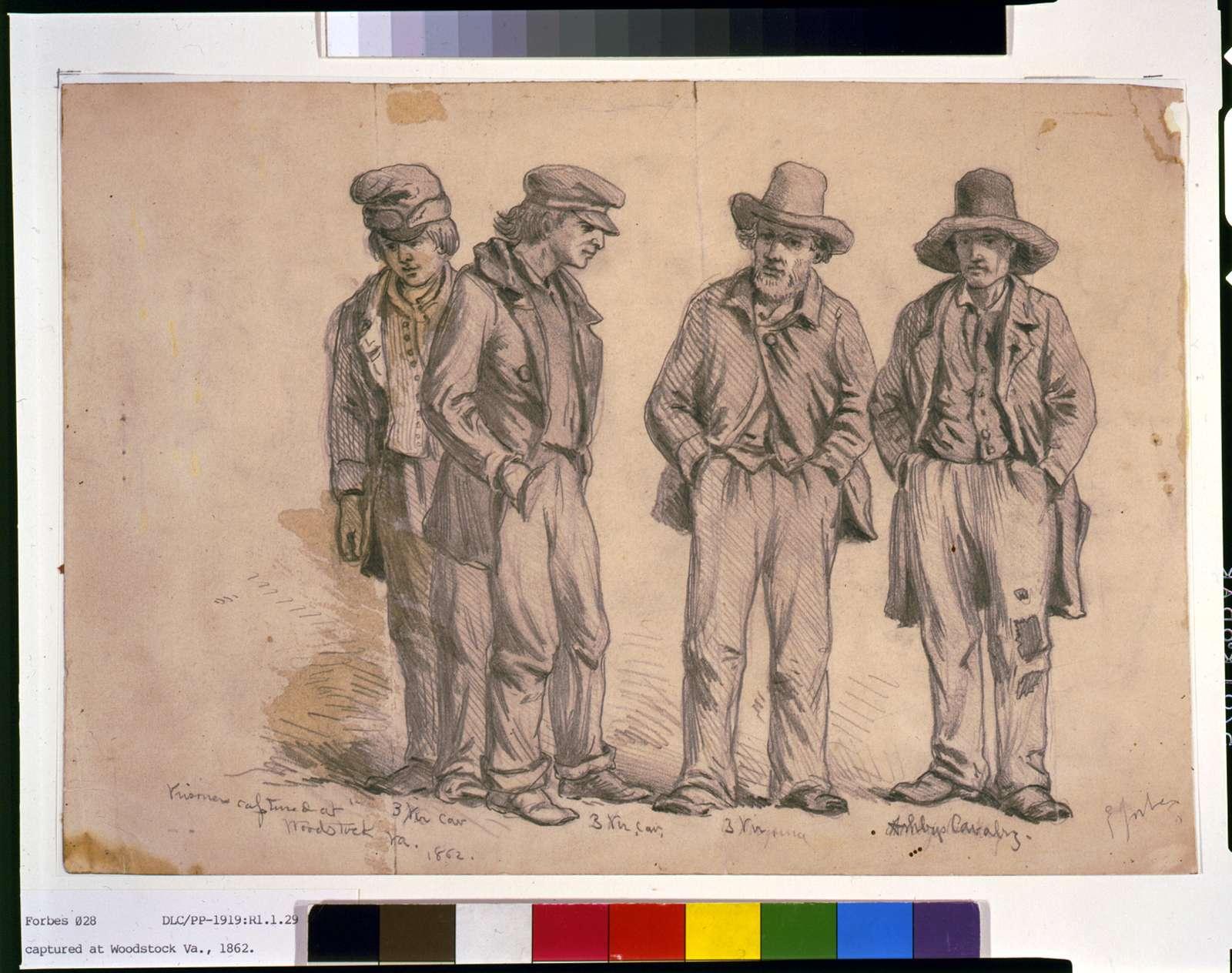 Prisoners captured at Woodstock, Va. / E. Forbes.