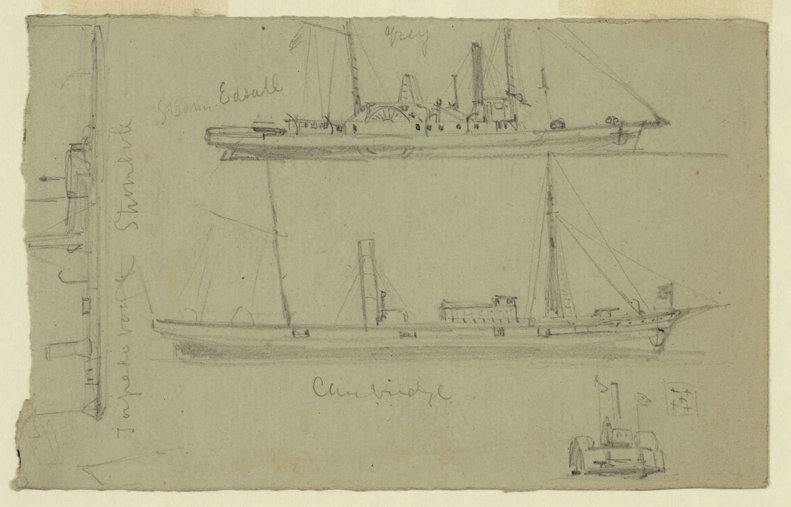 [Sketches of four ships]