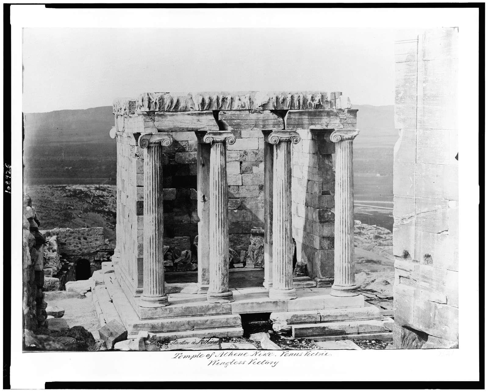 Temple of Athene Nike. Venus Victrix--Wingless Victory / D. Constantine á Athénes.