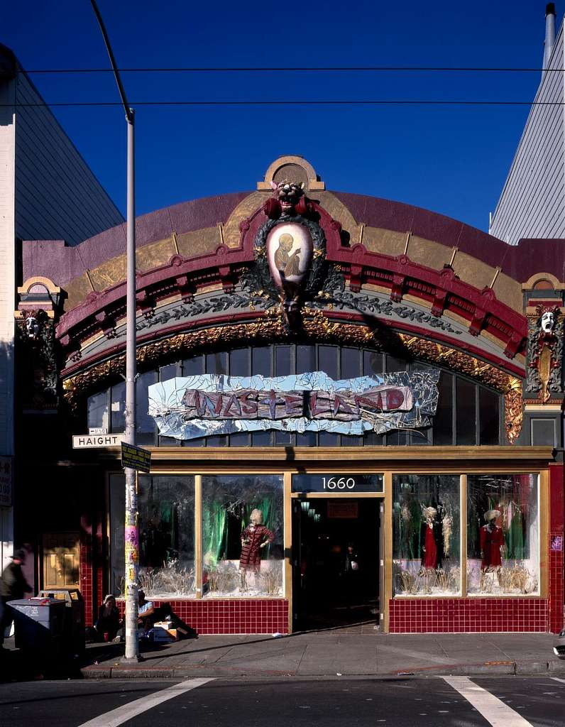 """Wasteland, a shop on San Francisco, California's Haight Street, once the center of the """"hippie movement,"""" selling vintage clothing and eclectic party supplies"""