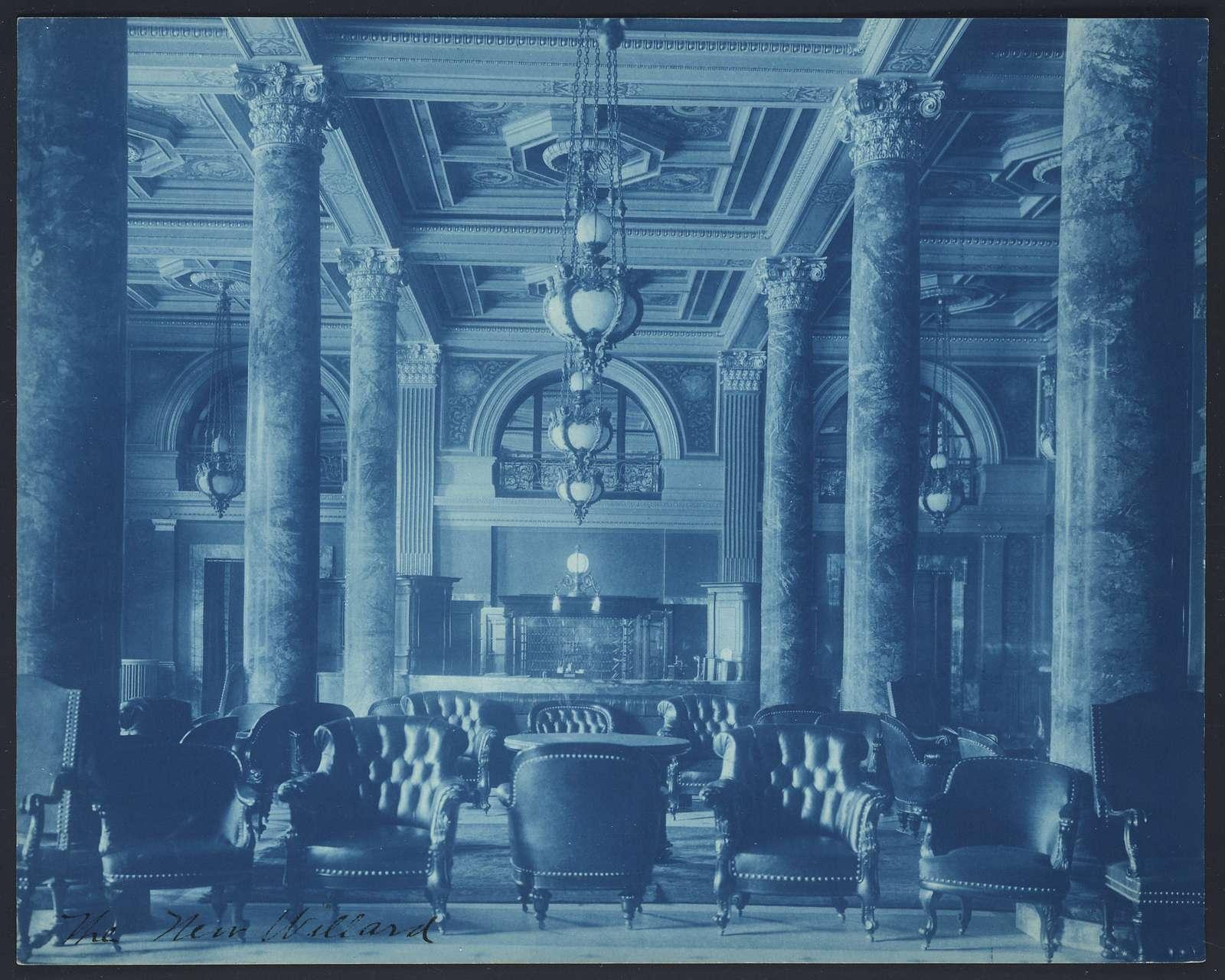 [Willard Hotel lobby]
