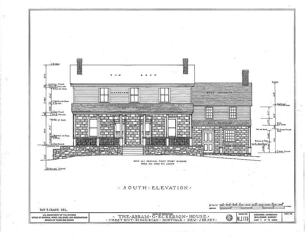 Abram G. Eckerson House, Chestnut Ridge Road, Montvale, Bergen County, NJ